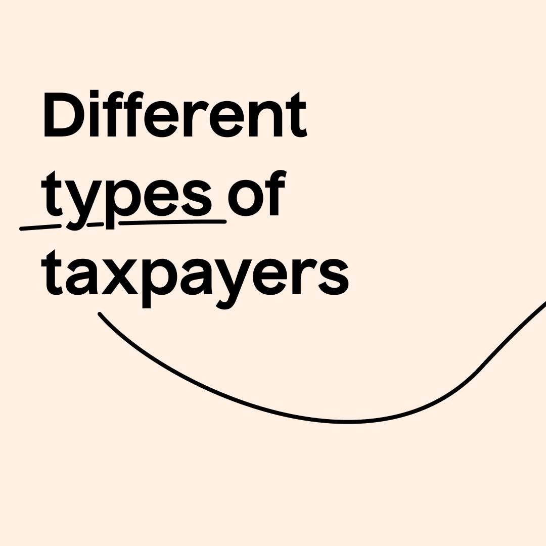 Different types of taxpayer